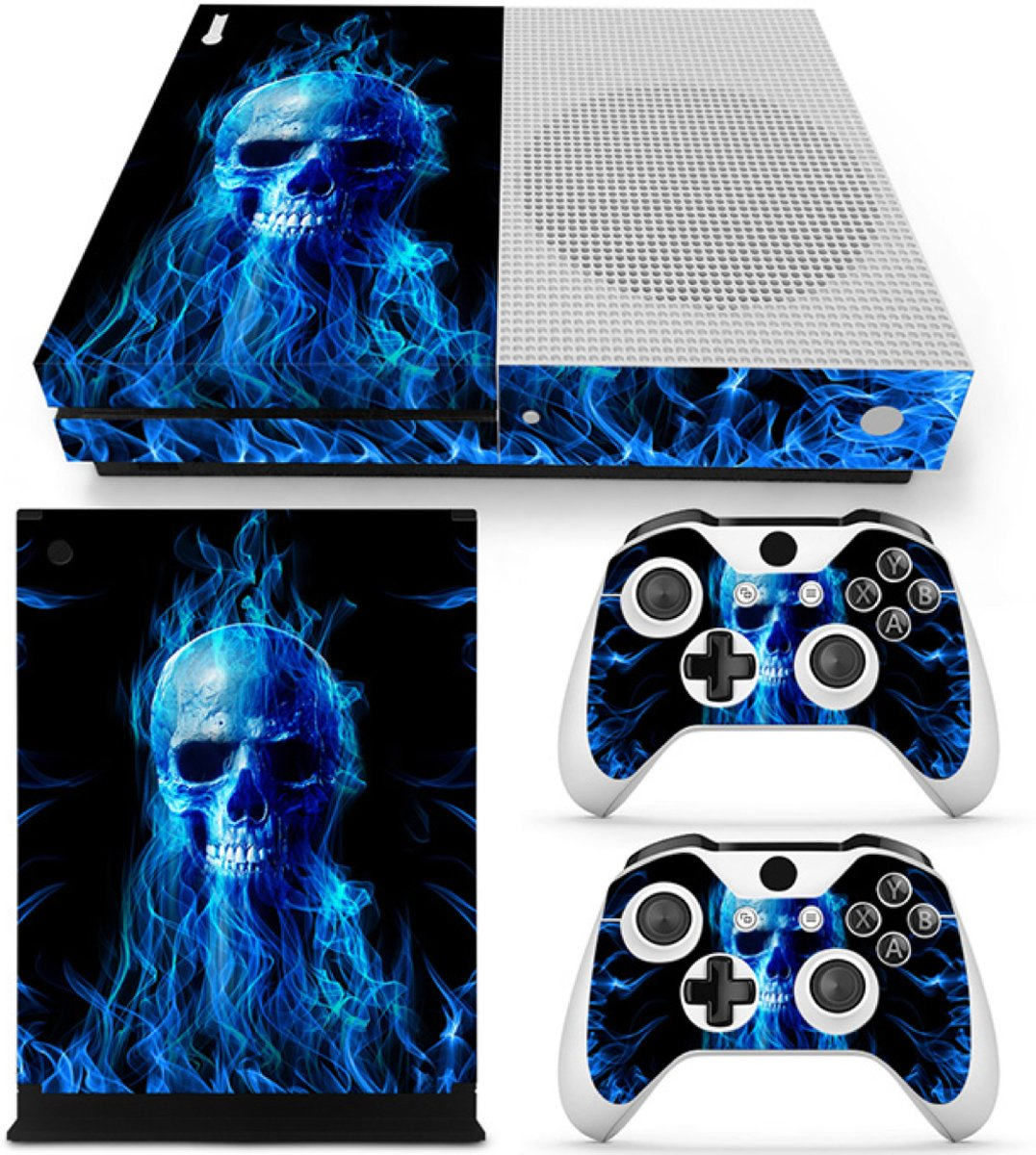 Fire Skull - Xbox One S Console Skins Stickers