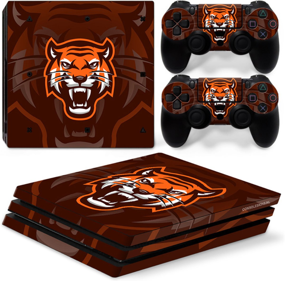 Gamer Tiger - PS4 Pro Console Skins PlayStation Stickers
