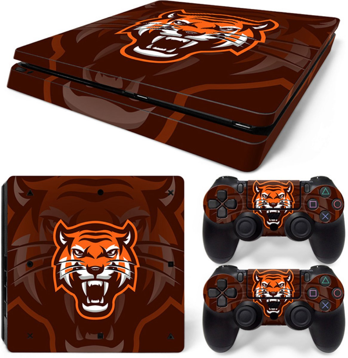 Gamer Tiger - PS4 Slim Console Skins PlayStation Stickers