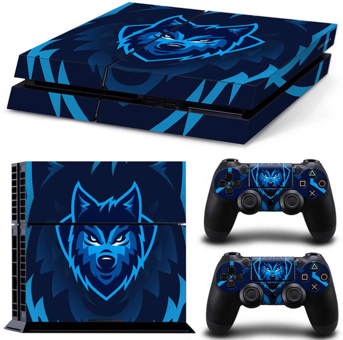 Gamer Wolf - PS4 Console Skins PlayStation Stickers