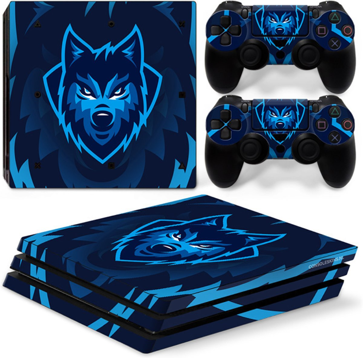 Gamer Wolf - PS4 Pro Console Skins PlayStation Stickers