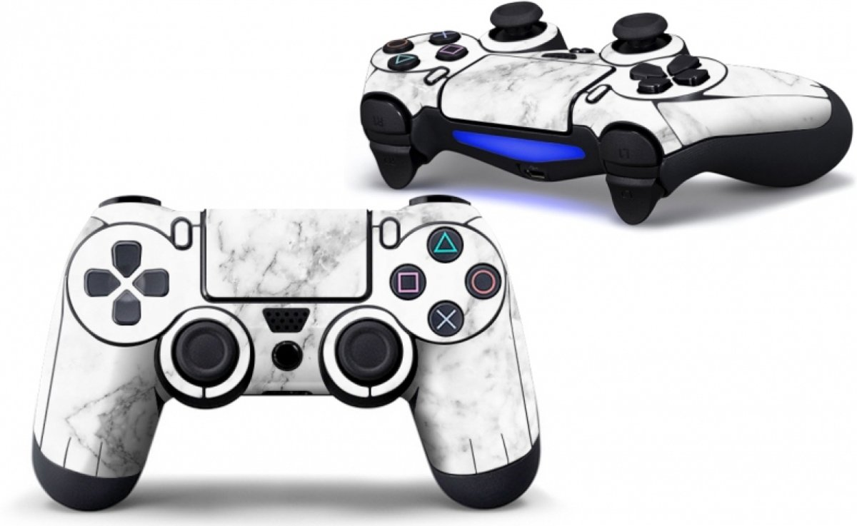 Marmer Wit - PS4 Controller Skins PlayStation Stickers