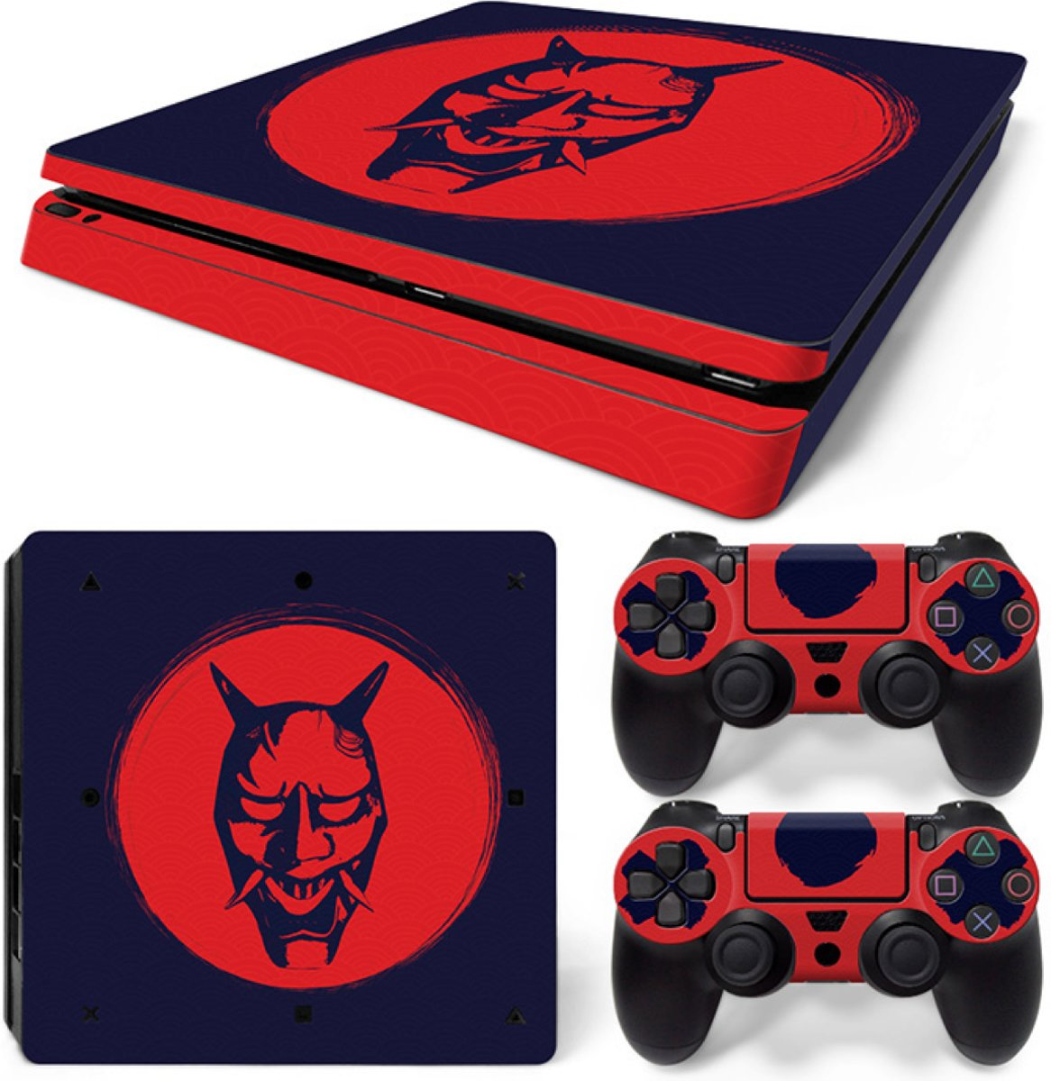 Oni Mask - PS4 Slim Console Skins PlayStation Stickers