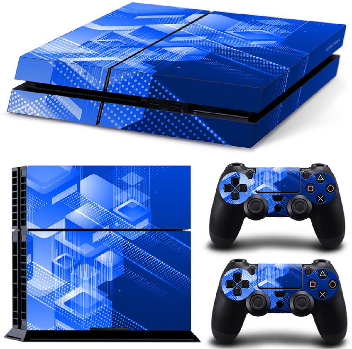 Shapes / Blauw - PS4 Console Skins PlayStation Stickers