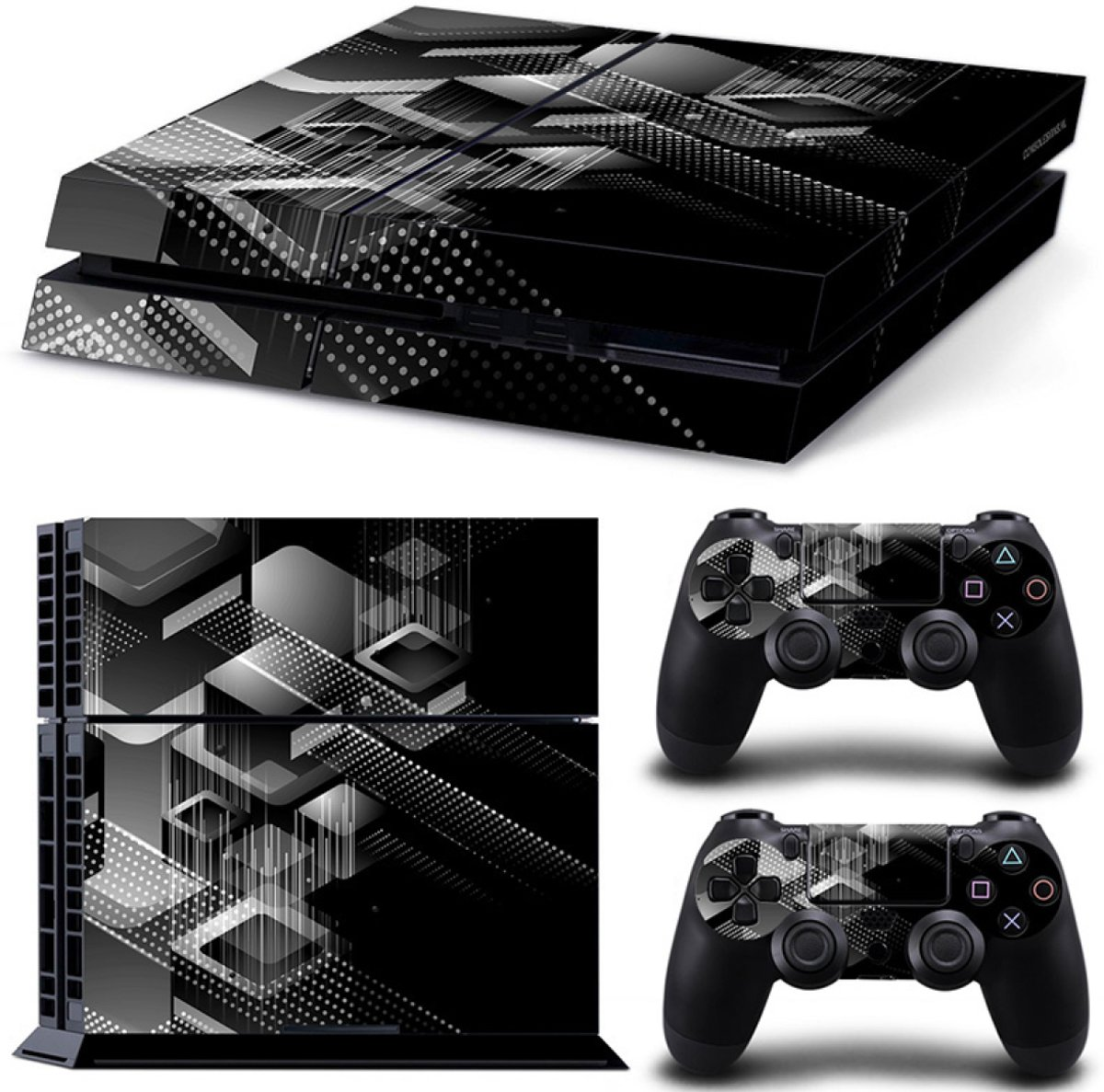 Shapes / Zwart - PS4 Console Skins PlayStation Stickers