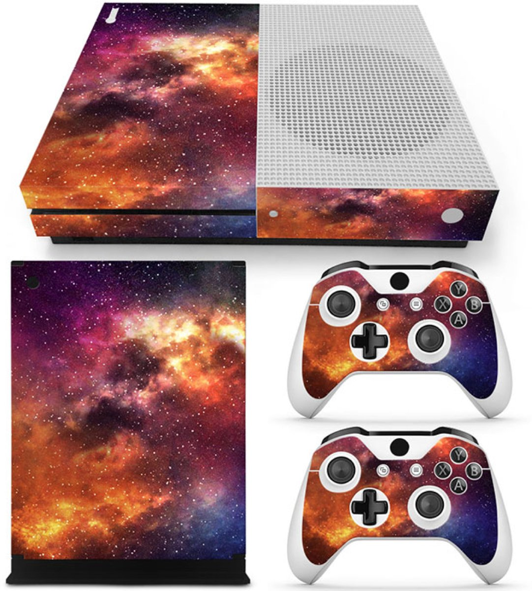 Starry Sky - Xbox One S Console Skins Stickers