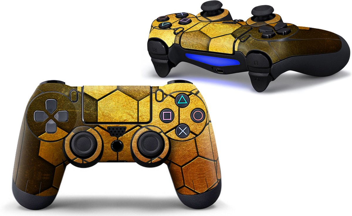 Steel Gold - PS4 Controller Skins PlayStation Stickers