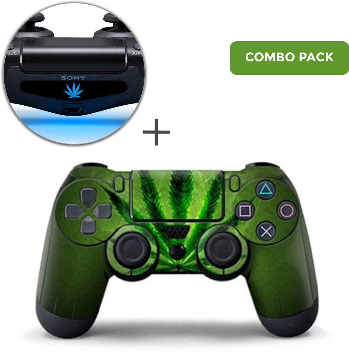 Weed 420 Combo Pack - PS4 Controller Skins PlayStation Stickers