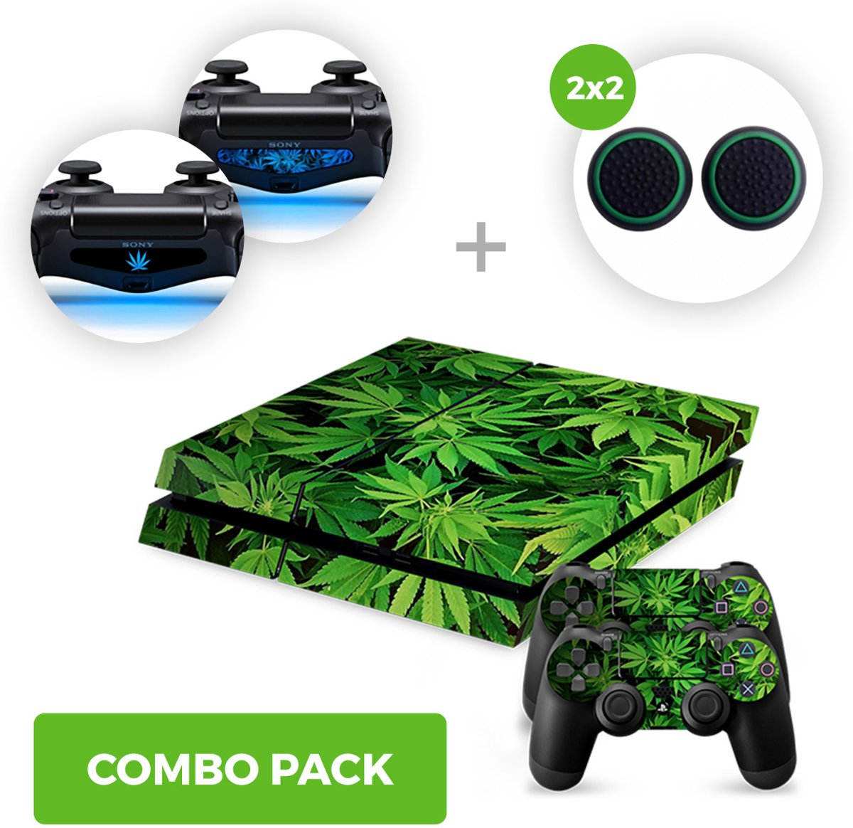 Weed Skins Pakket - PS4 PlayStation Stickers