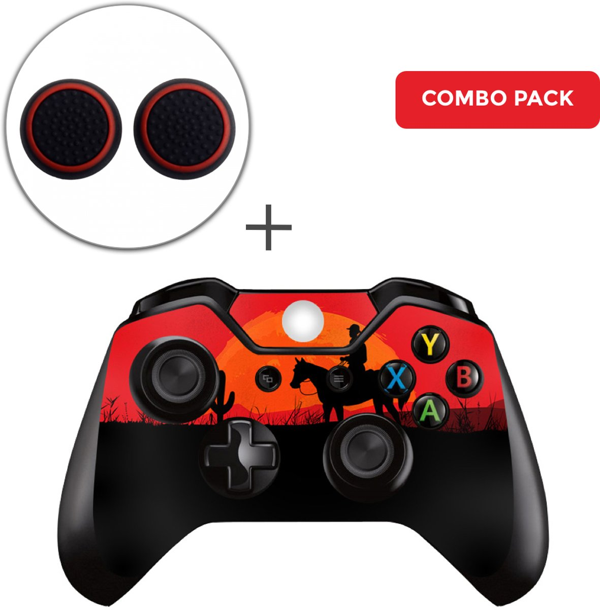 Wild West Combo Pack - Xbox One Controller Skins Stickers + Thumb Grips