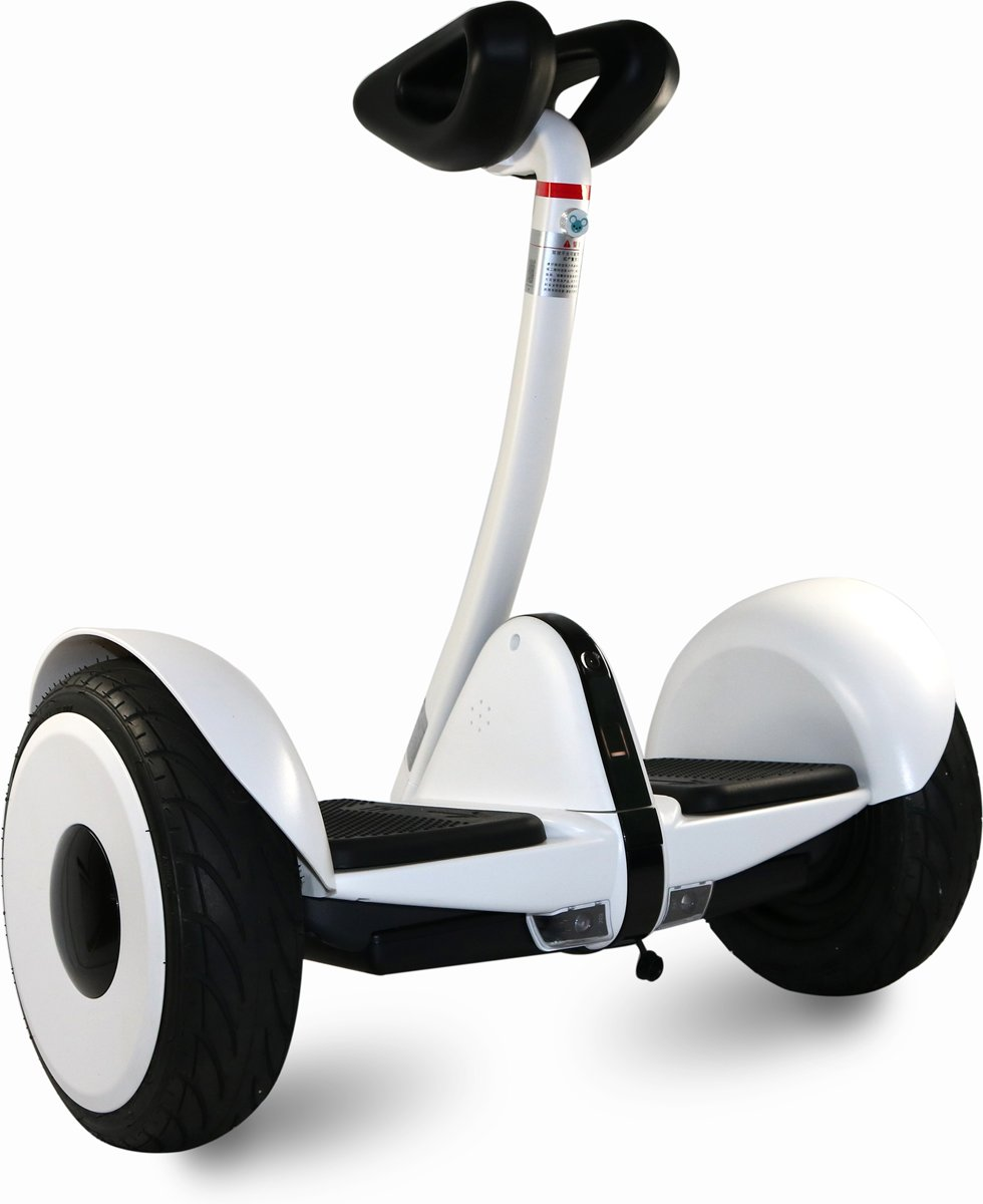 COOL&FUN 2018 Nieuwste software, Smart Mini-Scooter, Hoverboard 10 Inch + LED knippert + APP, Wit