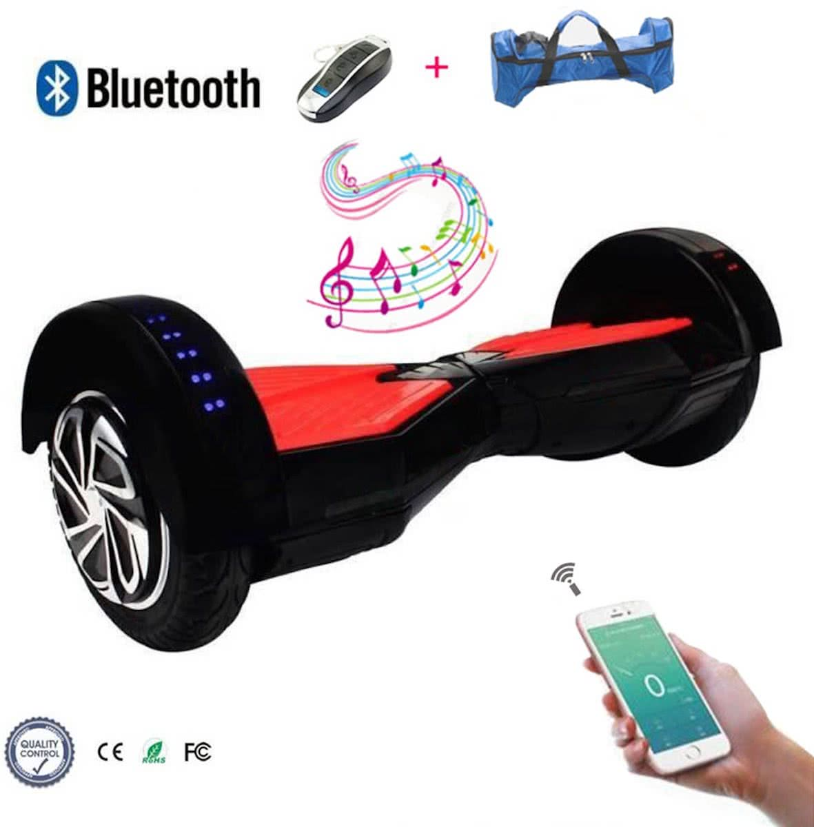 COOL & FUN Hoverboard Bluetooth, Elektrische Scooter Zelfbalansering, Gyropod Connected 8 inch Wit Blauw