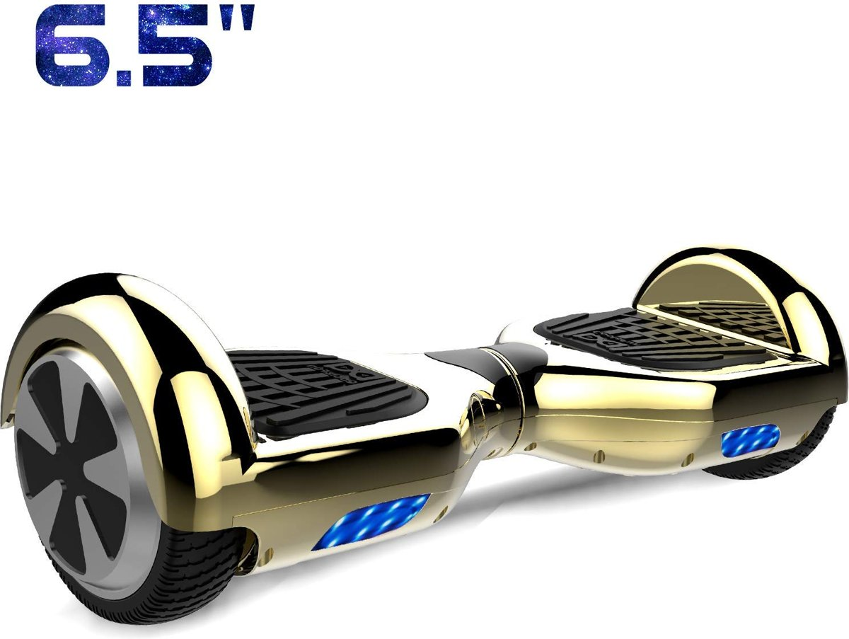 Cool&Fun Hoverboard / Elektrische Scooter Zelfbalansering / Oxboard / LED Verlichting / 6,5-inch Gyropod Chroom Goud