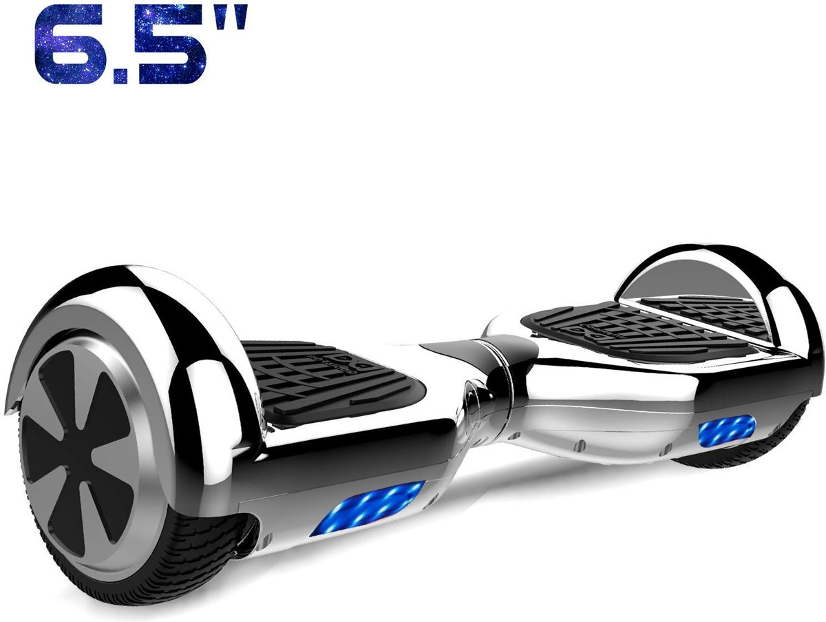 Cool&Fun Hoverboard / Elektrische Scooter Zelfbalansering / Oxboard / LED Verlichting / 6,5-inch Gyropod Chroom Zilverachtig