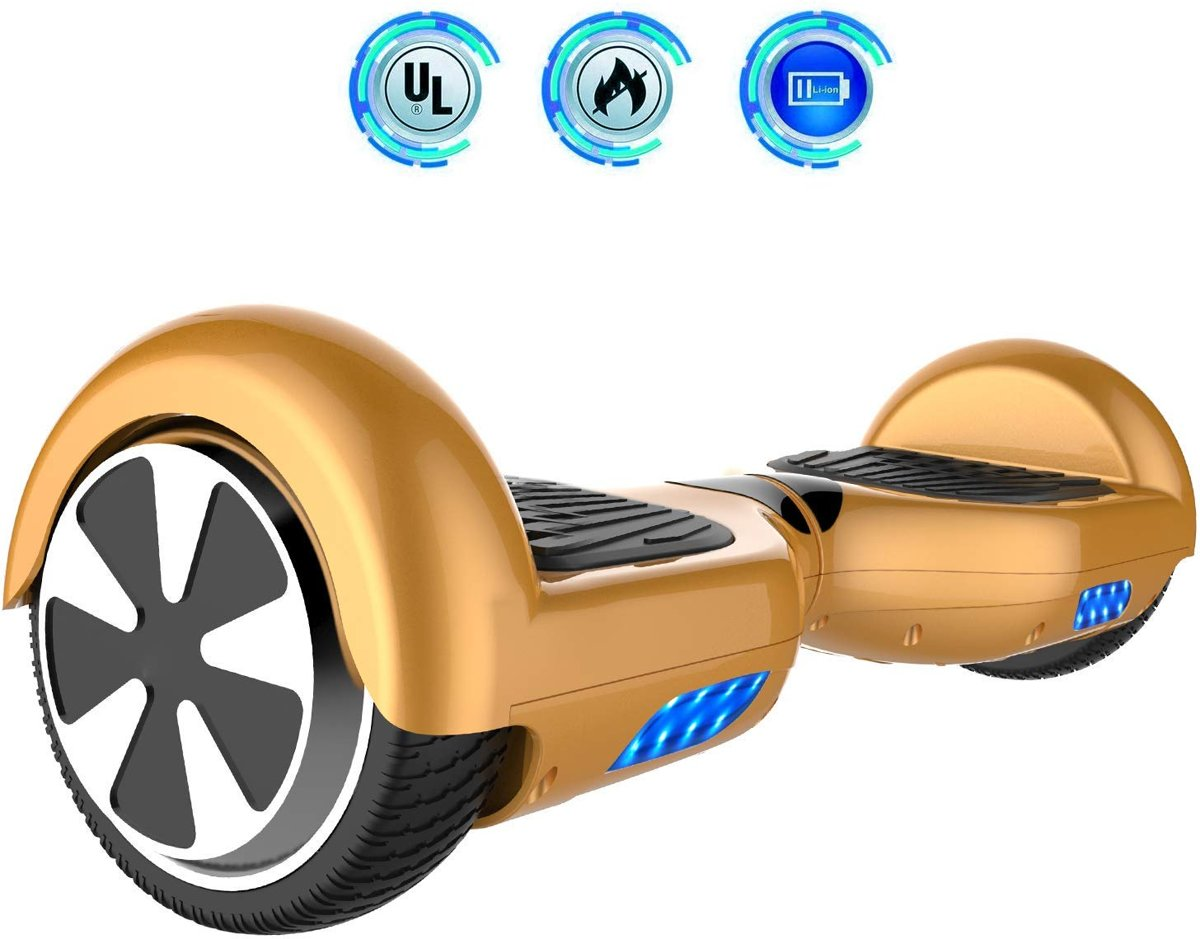 Cool&Fun Hoverboard / Elektrische Scooter Zelfbalansering / Oxboard / LED Verlichting / 6,5-inch Gyropod Goud