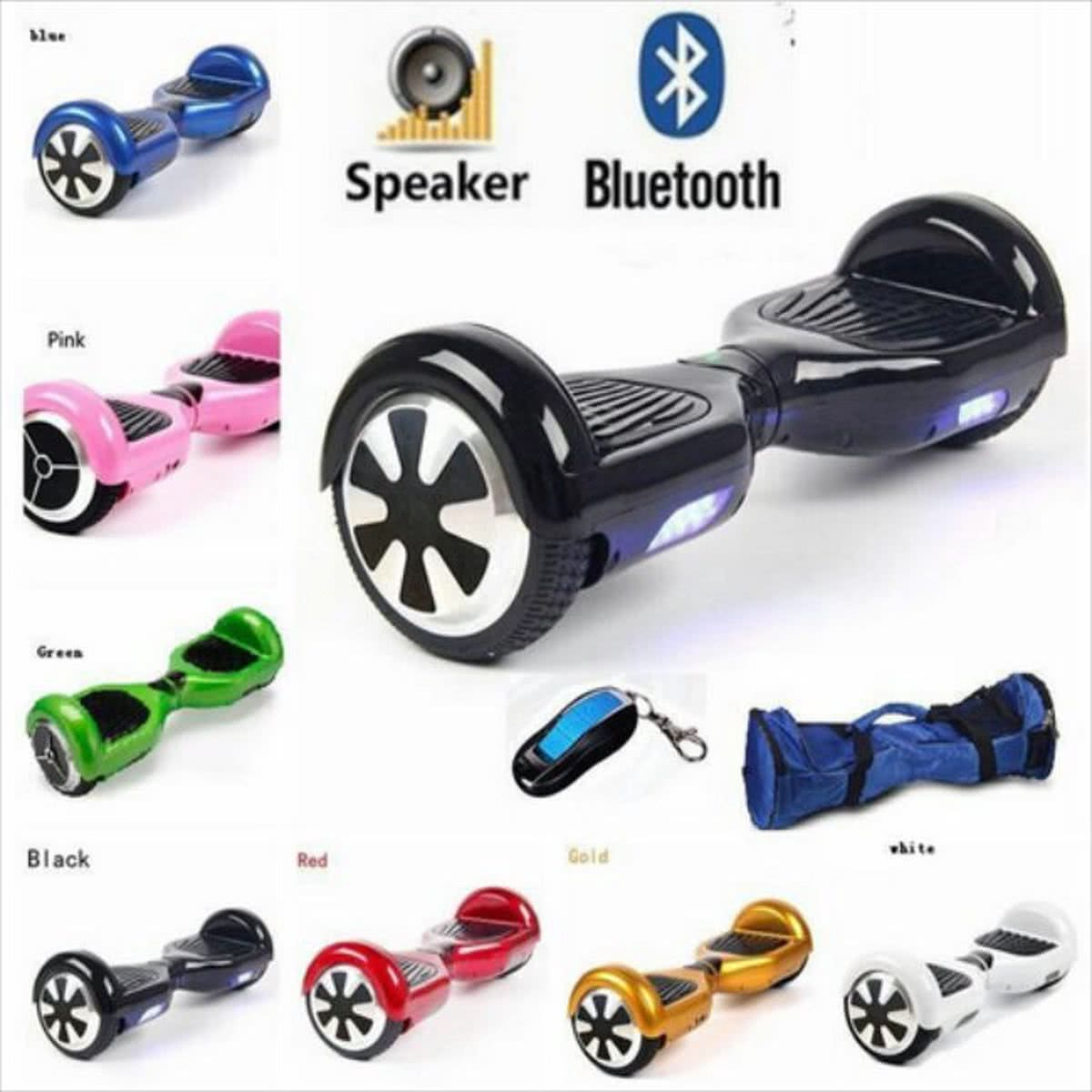 Hoverboard INAR P5B BT Zwart Incl. Bluetooth en speakers