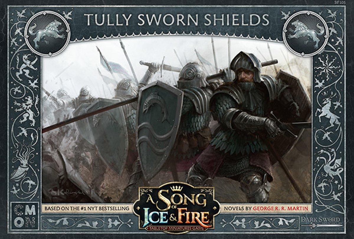 A Song of Ice and Fire Miniature Game - Tully Sworn Shields