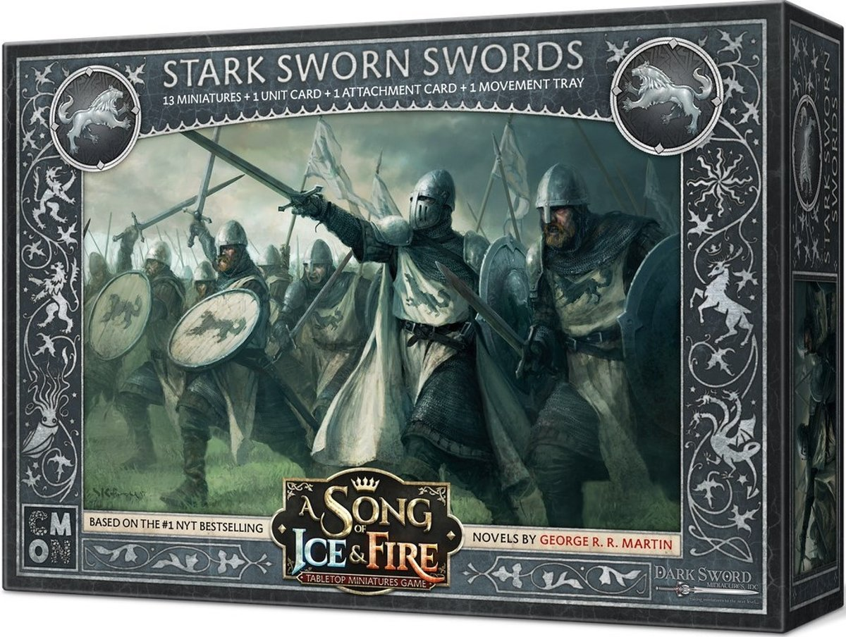 A Song of Ice and Fire Miniatures Game: Stark sworn swords