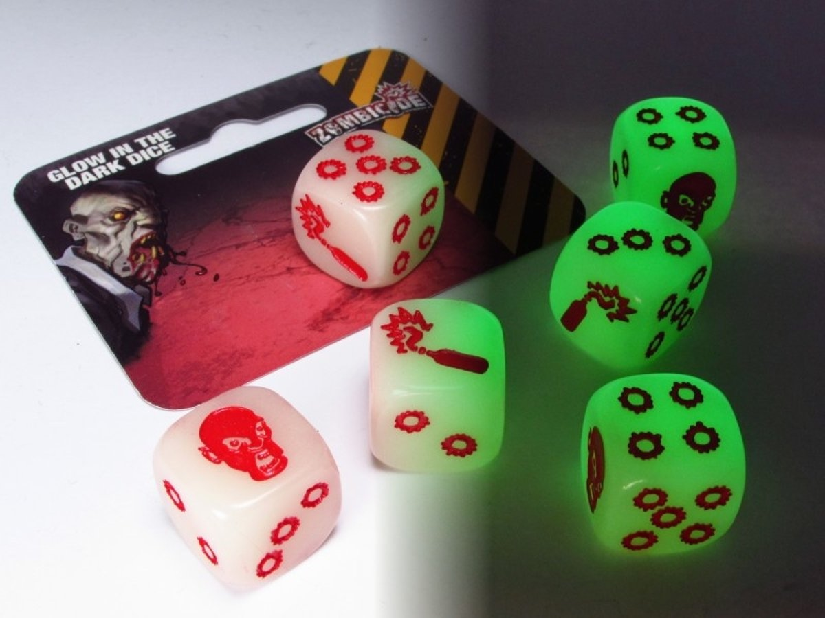 Zombicide dice - Glow in the dark