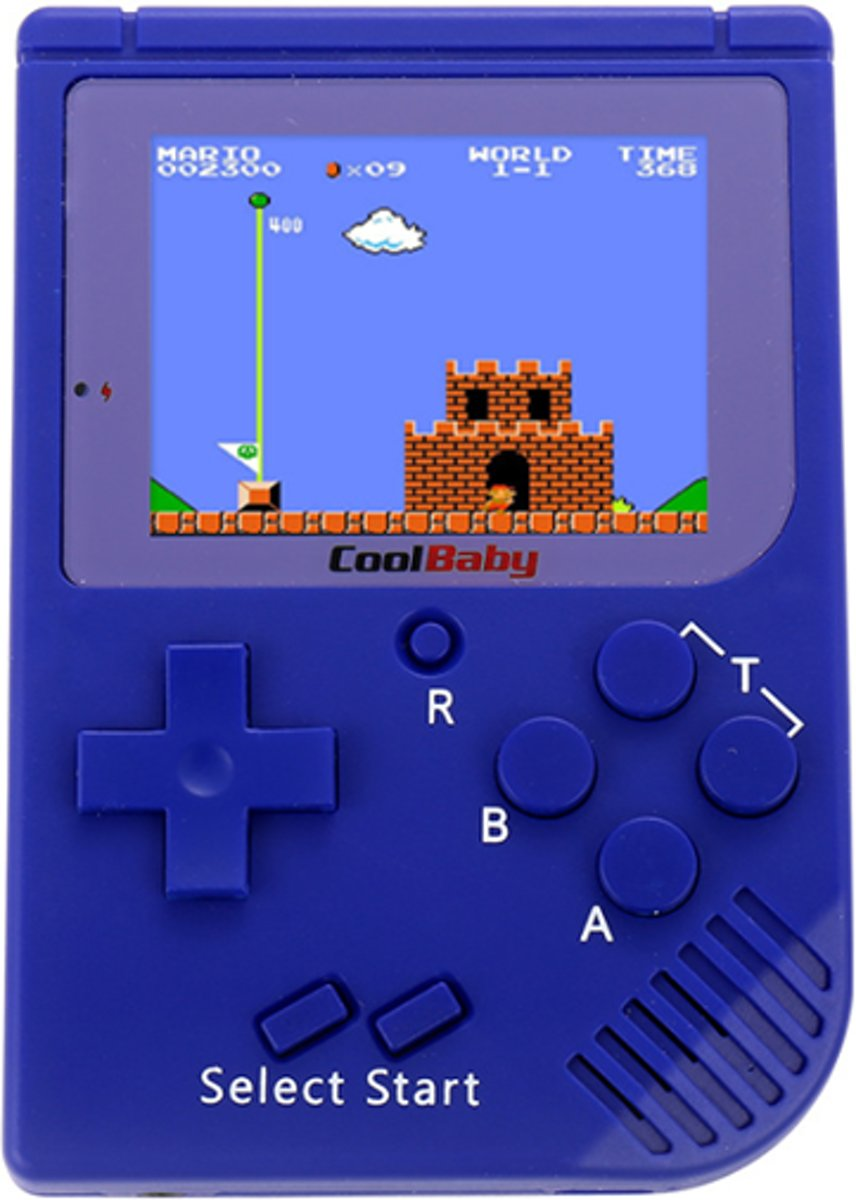 Retro Mini Handheld 8 Bit - 129 in 1 - Blauw