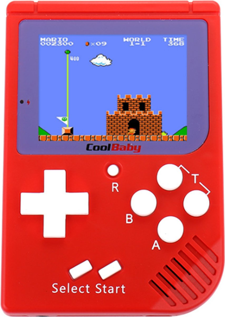 Retro Mini Handheld 8 Bit - 129 in 1 - Rood