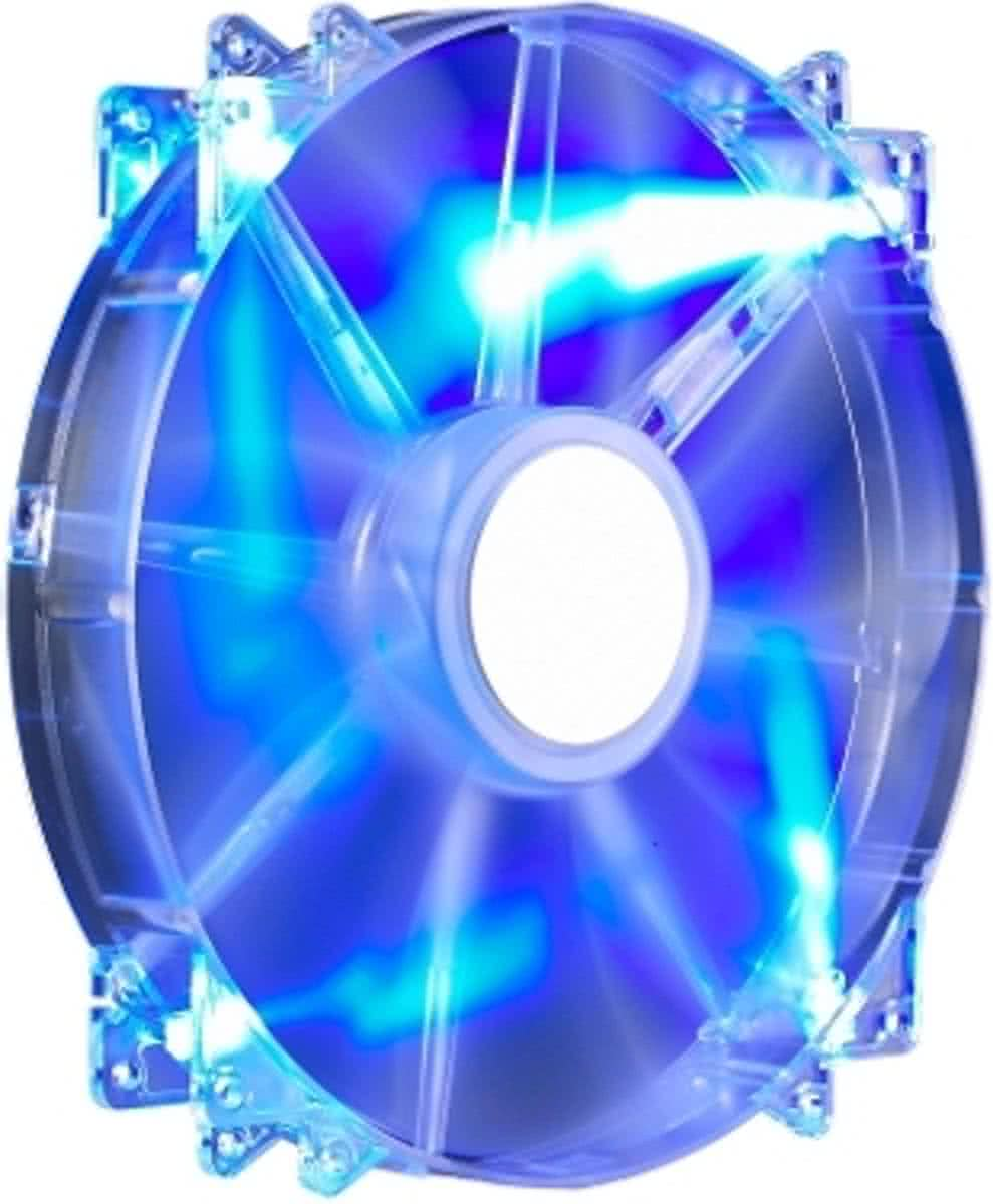 200x30mm,Sleeve,700rpm,Transprent Blue LED Silent Fan