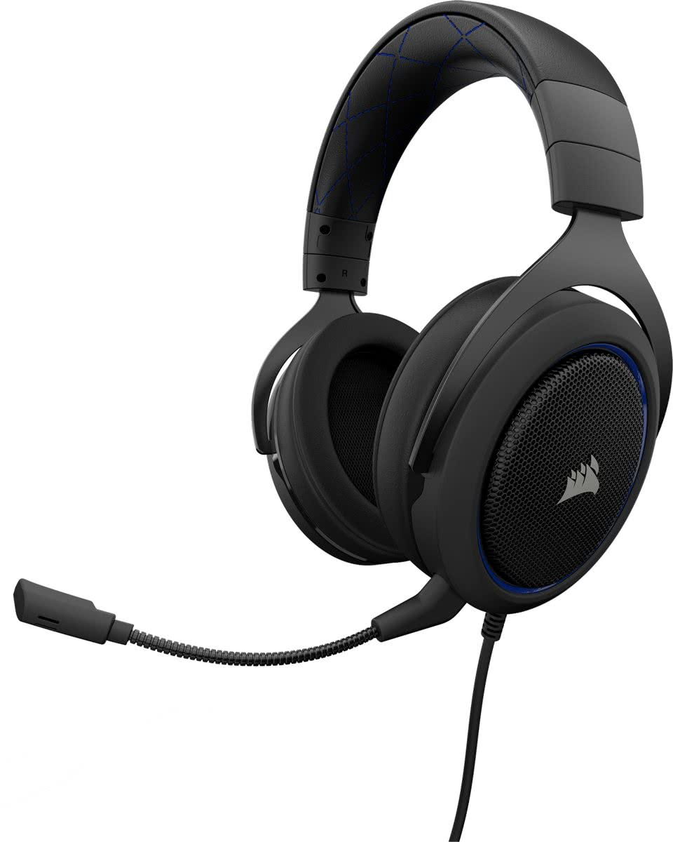 HS50 - Gaming Headset - Blauw  - PS4 + Xbox One + PC + Switch
