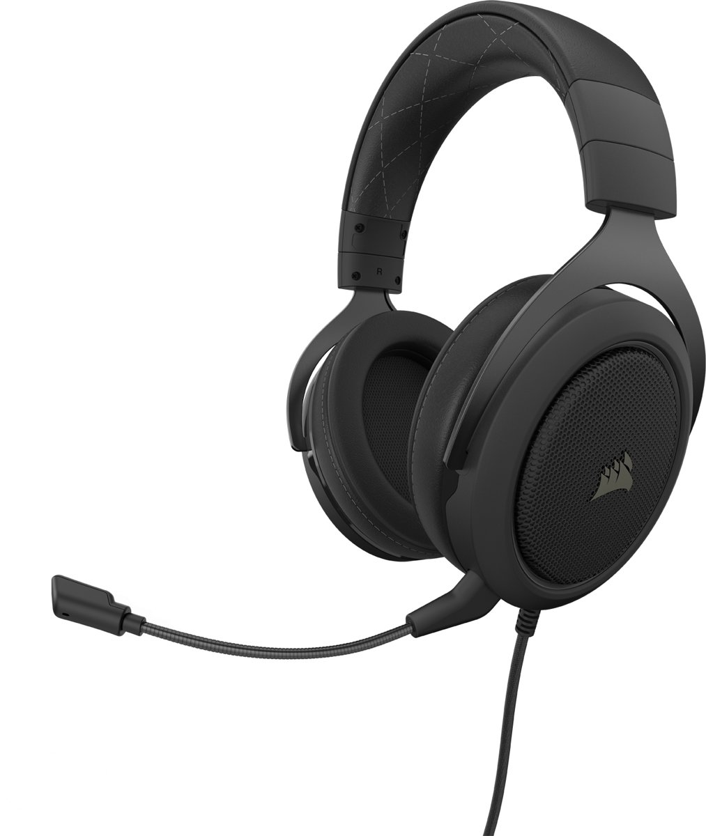 Corsair HS60 Pro Surround Gaming Headset - Zwart/Carbon - PS4 + Xbox One + PC + Switch