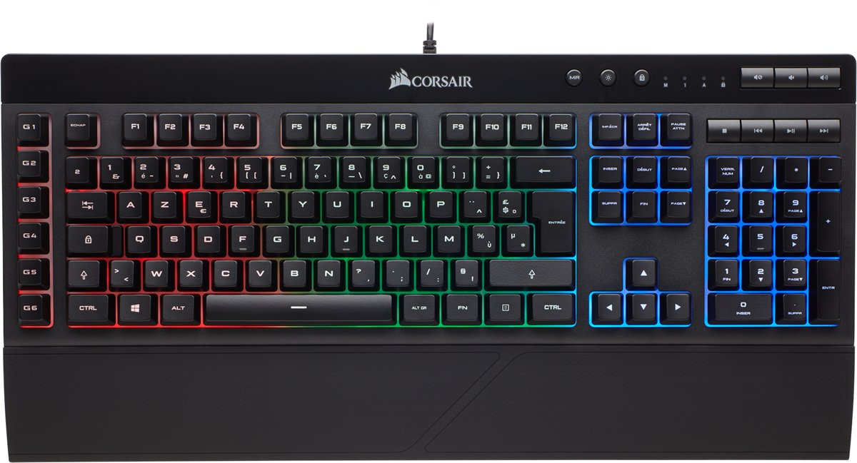 Corsair K55 RGB - BE Azerty - Membraan Gaming Toetsenbord