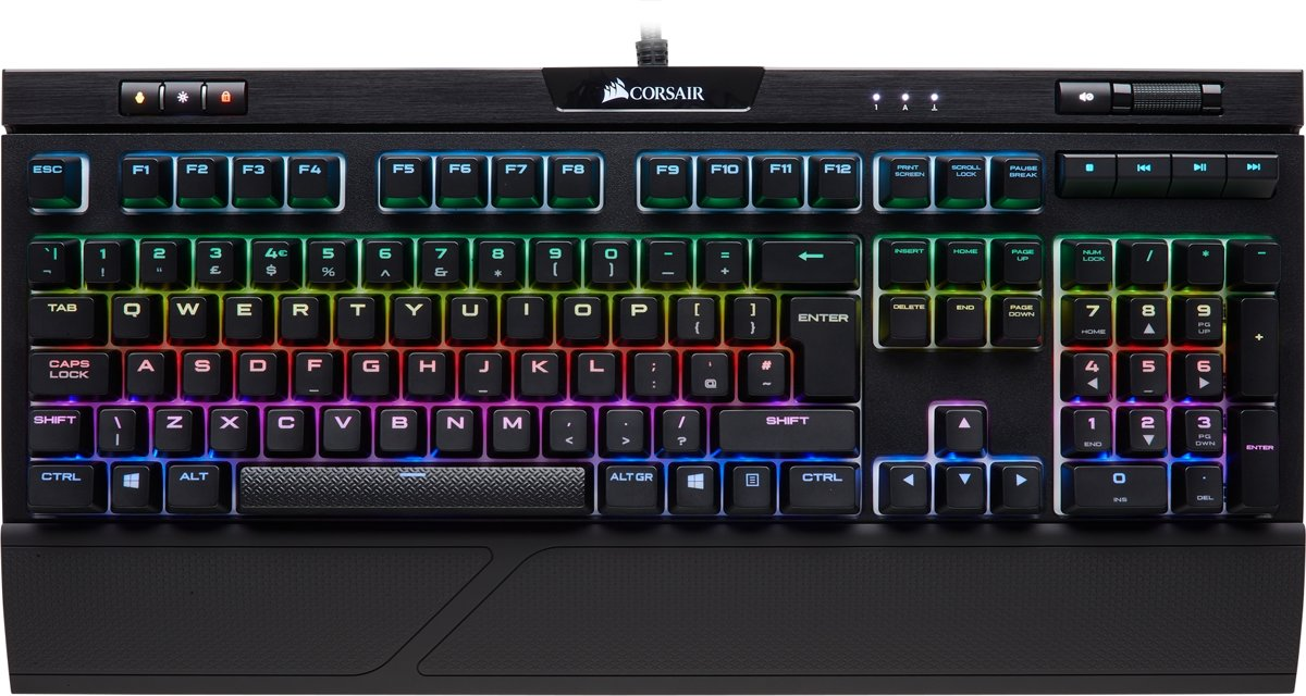 Corsair Strafe RGB MK.2 - Qwerty -  Cherry MX Silent - Mechanisch Gaming Toetsenbord