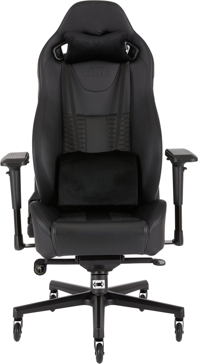 Corsair T2 ROAD WARRIOR - High Back Desk and Office Chair - Black / Black