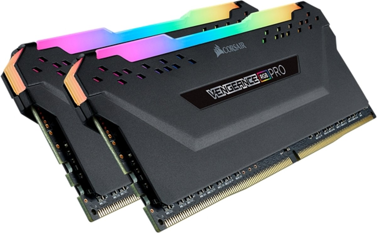 VENGEANCE RGB PRO 16GB (2x8GB) DDR4 3200 (PC4-25600) C16 Desktop memory . Black