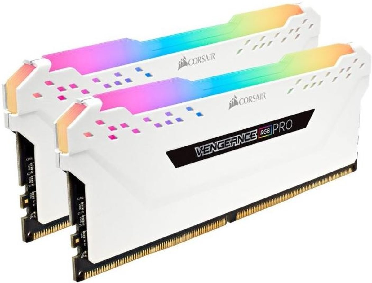 VENGEANCE RGB PRO 32GB (4x8GB) DDR4 2666 (PC4-21300) C16 Desktop memory . White