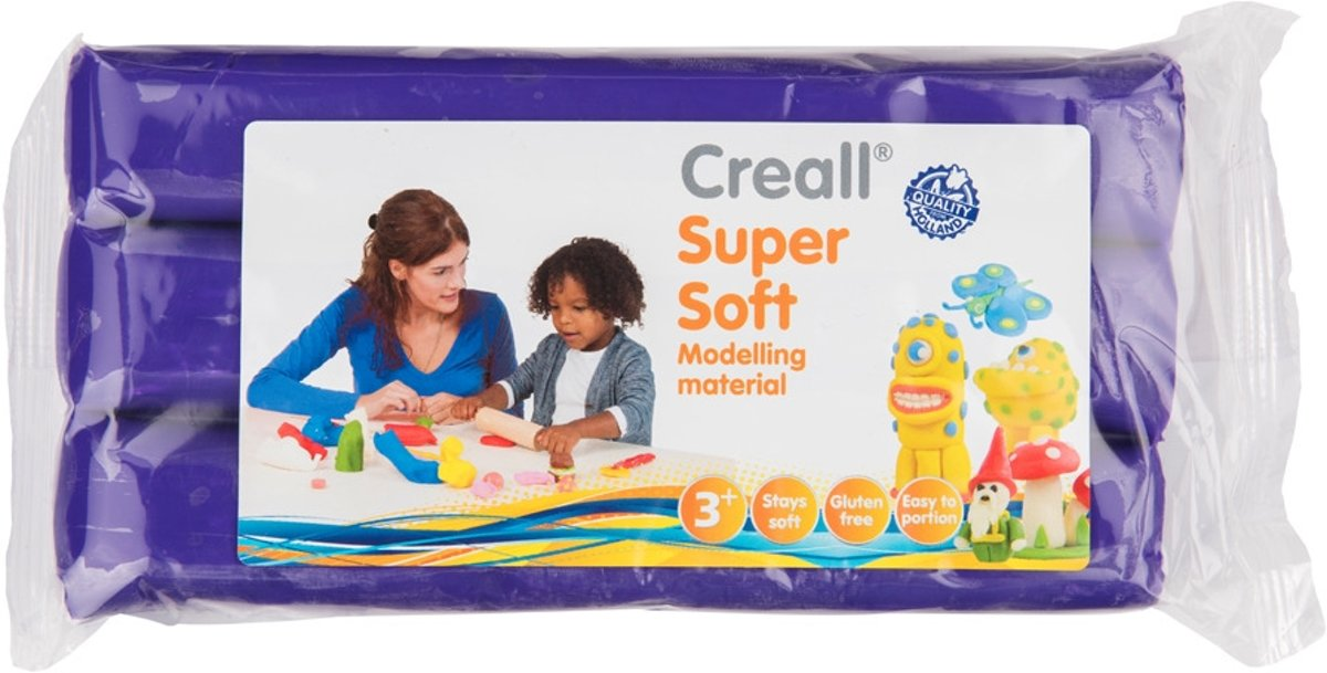 - Boetseerklei Supersoft - Paars - 500 gram