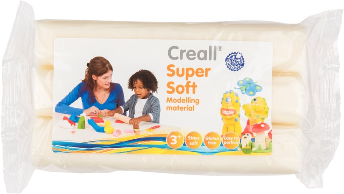 - Boetseerklei Supersoft - Wit - 500 gram