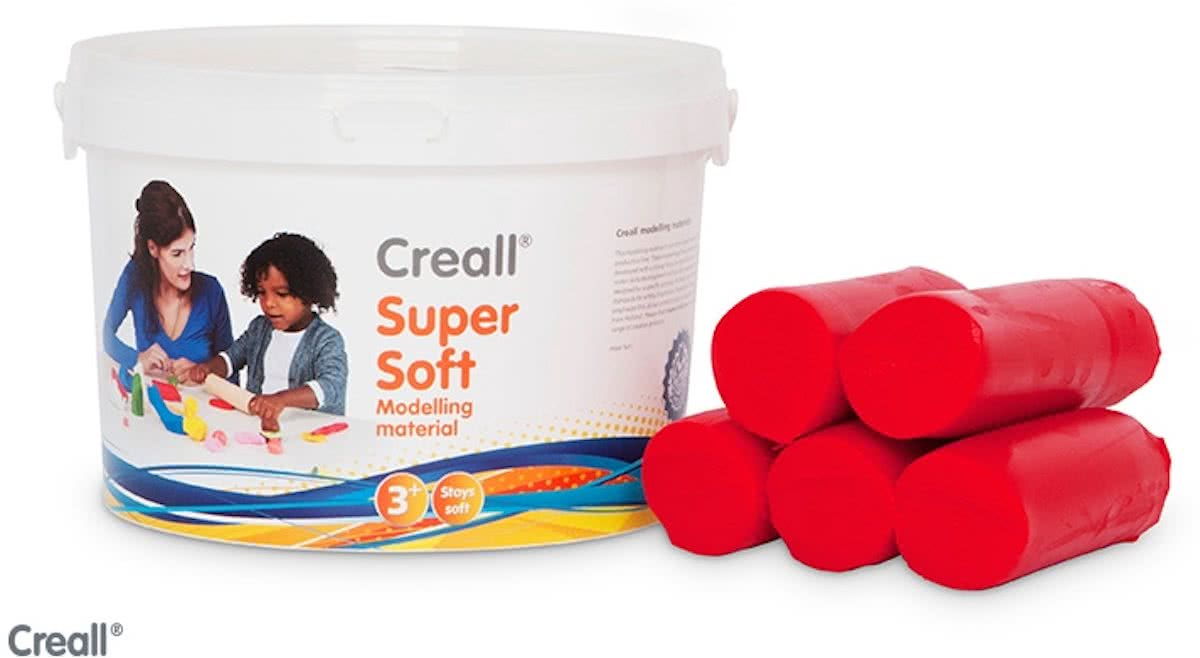 Supersoft Klei rood