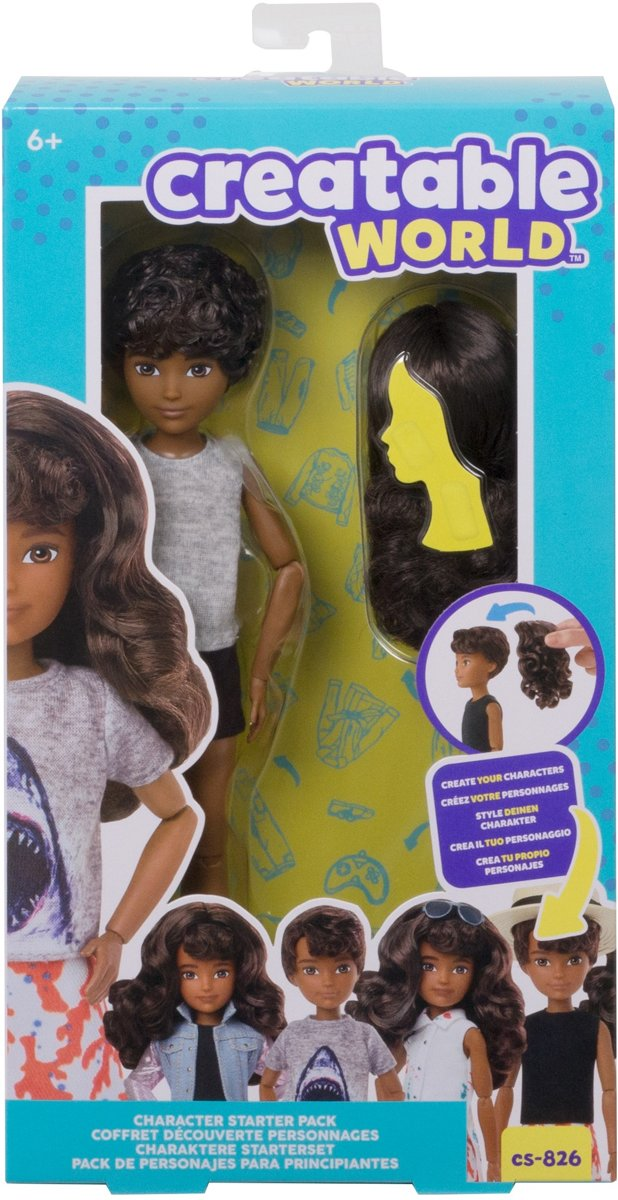 Creatable World Character Starter Kit 6 Brown Wavy - Genderneutrale Pop