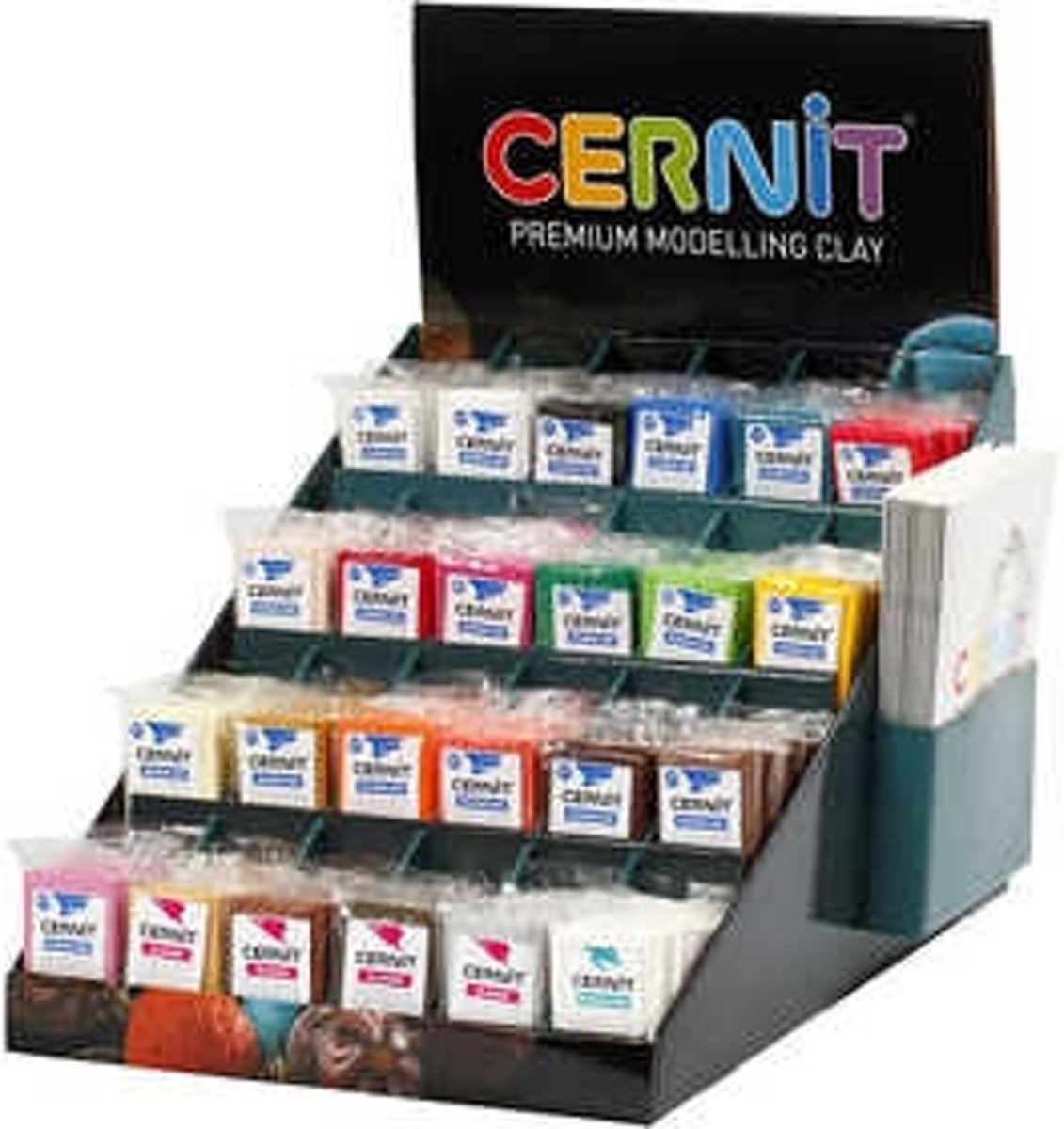 Cernit, kleuren assorti, incl. display, 24x6dozen