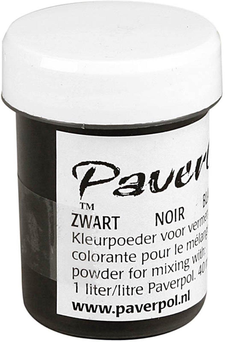 Paver Color, zwart, 40ml