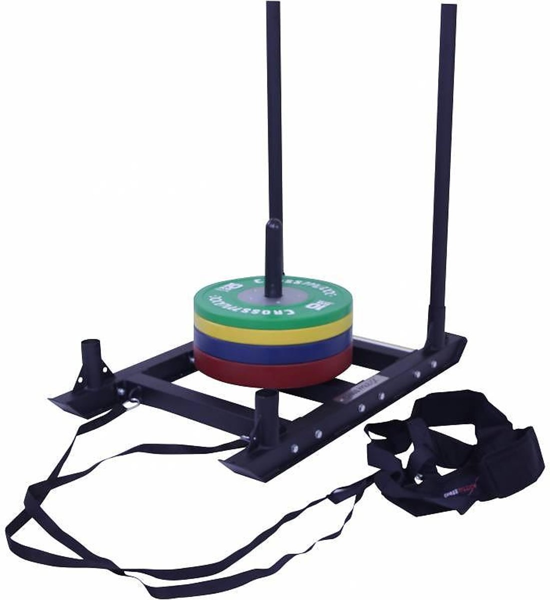 Power sled with harness (black)