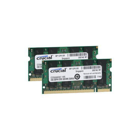 CT2KIT25664AC667 4GB DDR2 SODIMM 667MHz (2 x 2 GB)