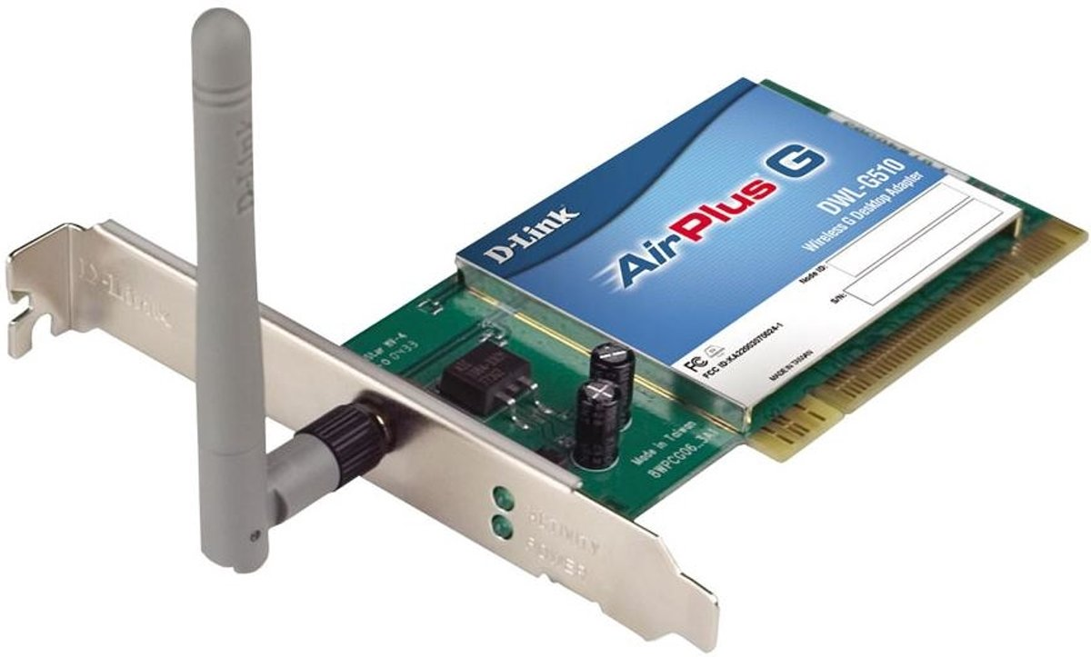 D-link PCI Bus 802.11g Wireless Adapter