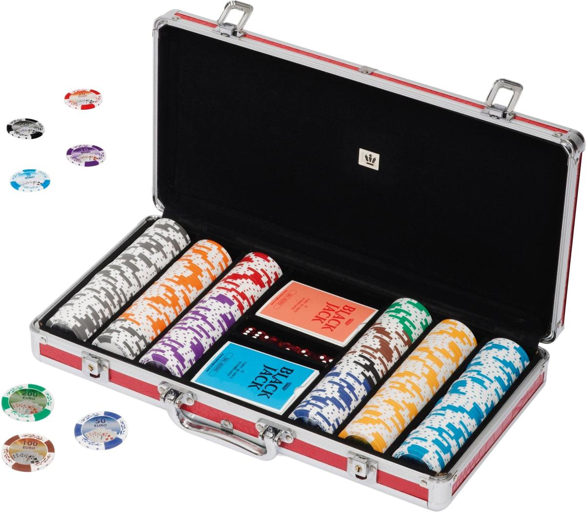 POKERSET 43MM OVERSIZED EURO CHIPS 300 chips