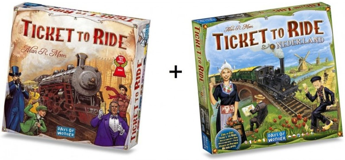 Spel - Ticket to Ride USA met uitbreiding Map Collection - Nederland - Combi Deal
