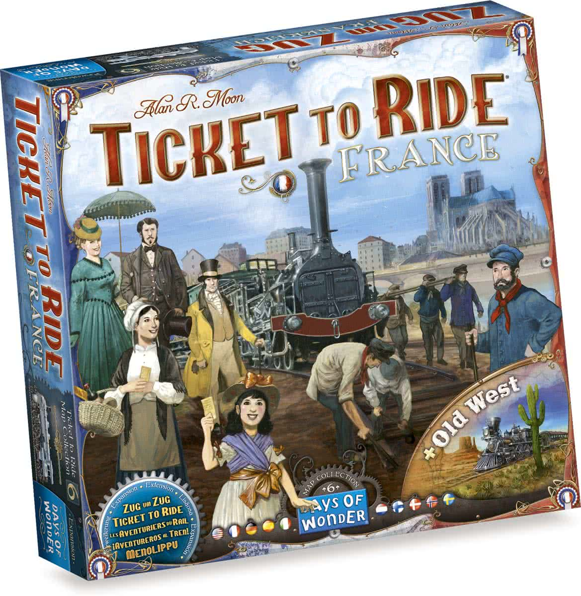 Ticket to Ride France/Old West - Bordspel - Uitbreiding
