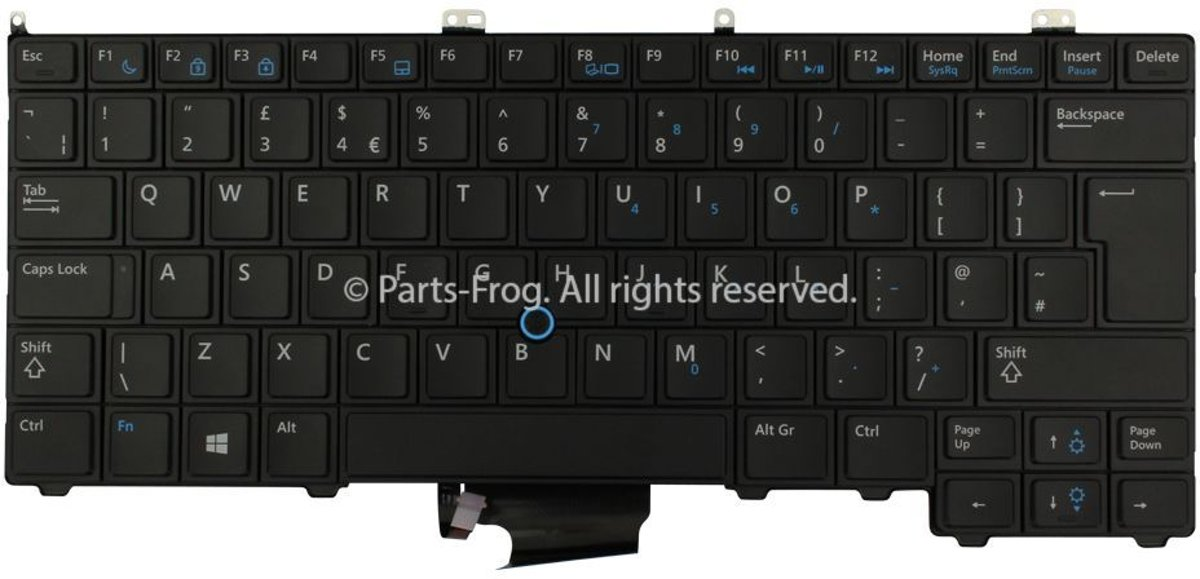 4P5PJ UK QWERTY Laptop Toetsenbord (Origineel)