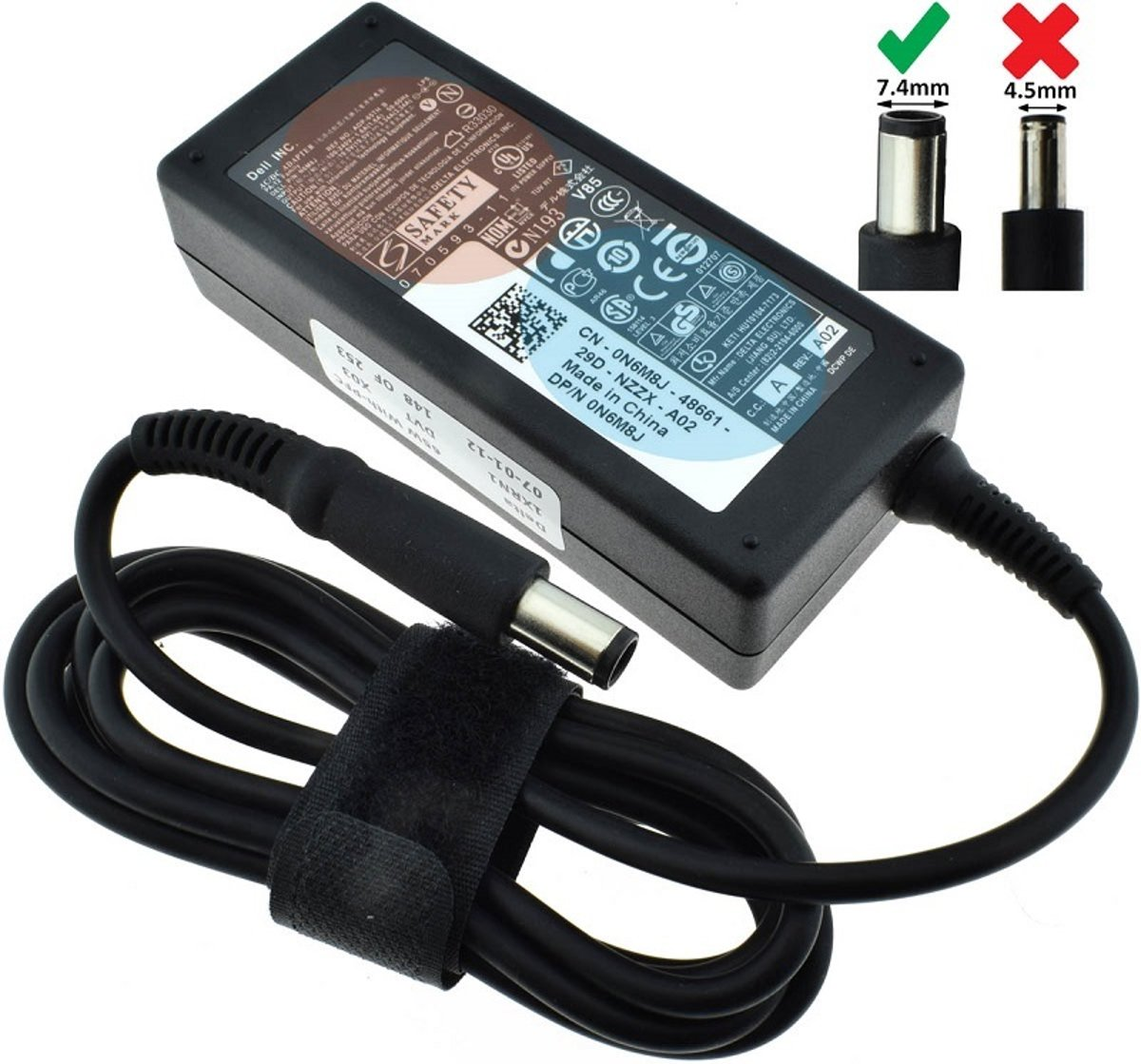 Dell 65W Laptop Adapter 19.5V 3.34A Smart PIN Origineel