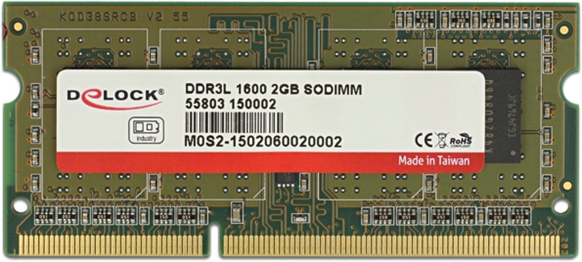 DeLOCK 55803 2GB 1600MHz geheugenmodule
