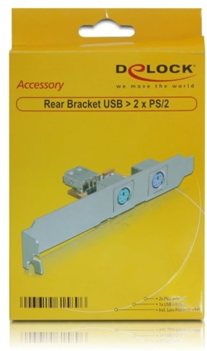 DeLOCK 61589 USB 2.0 interfacekaart/-adapter