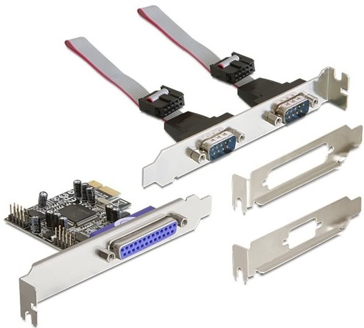 DeLock PCI Express Interface Kaart - 2 x Serial / 1 x Parallel